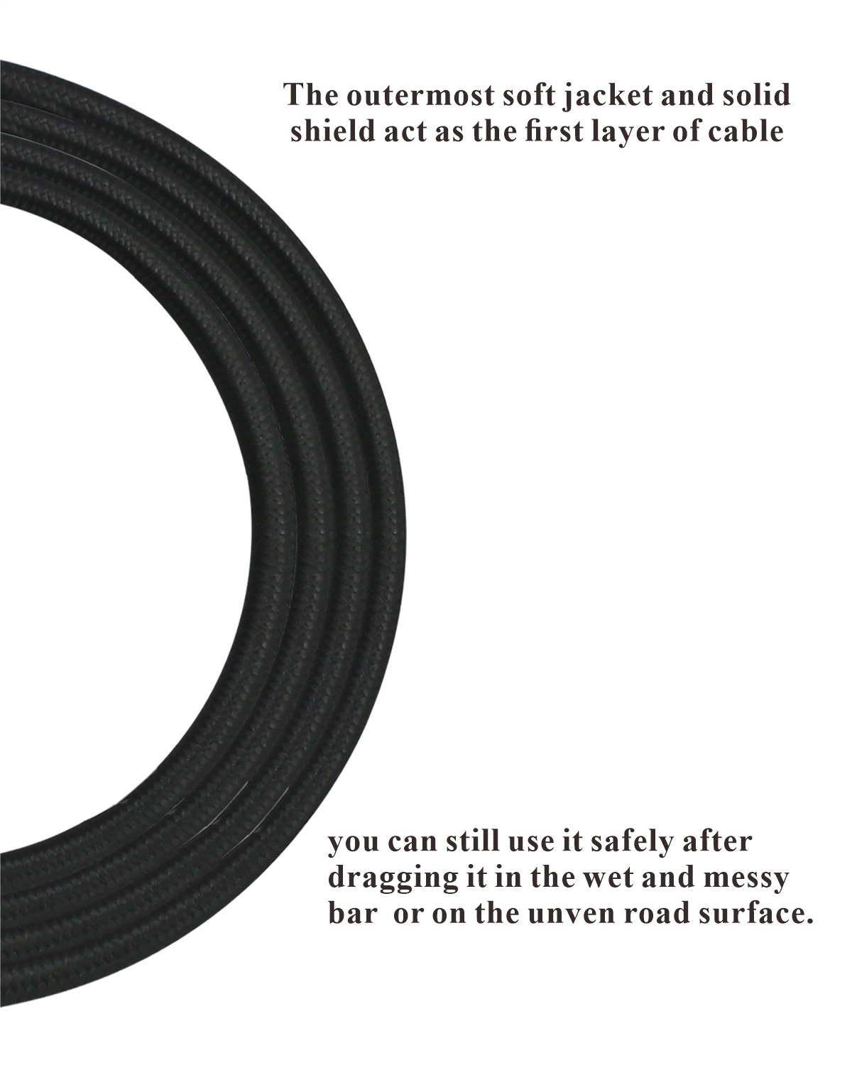 10 feet professional guitar instrument cable with Noble black tweed coat Angle 1/4 Inch TS to Straight 1/4 Inch TS