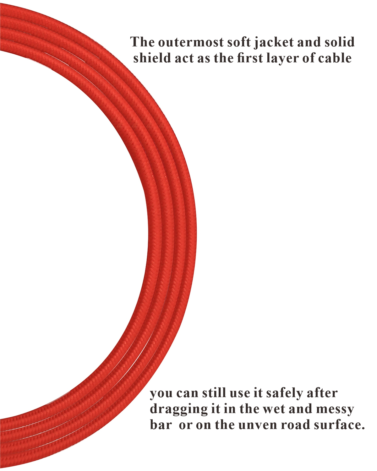 10ft Professional Guitar Instrument Cable with a gorgeous Red Tweed Cloth Jacket Right Angle 1/4 Inch TS to Straight 1/4 Inch TS