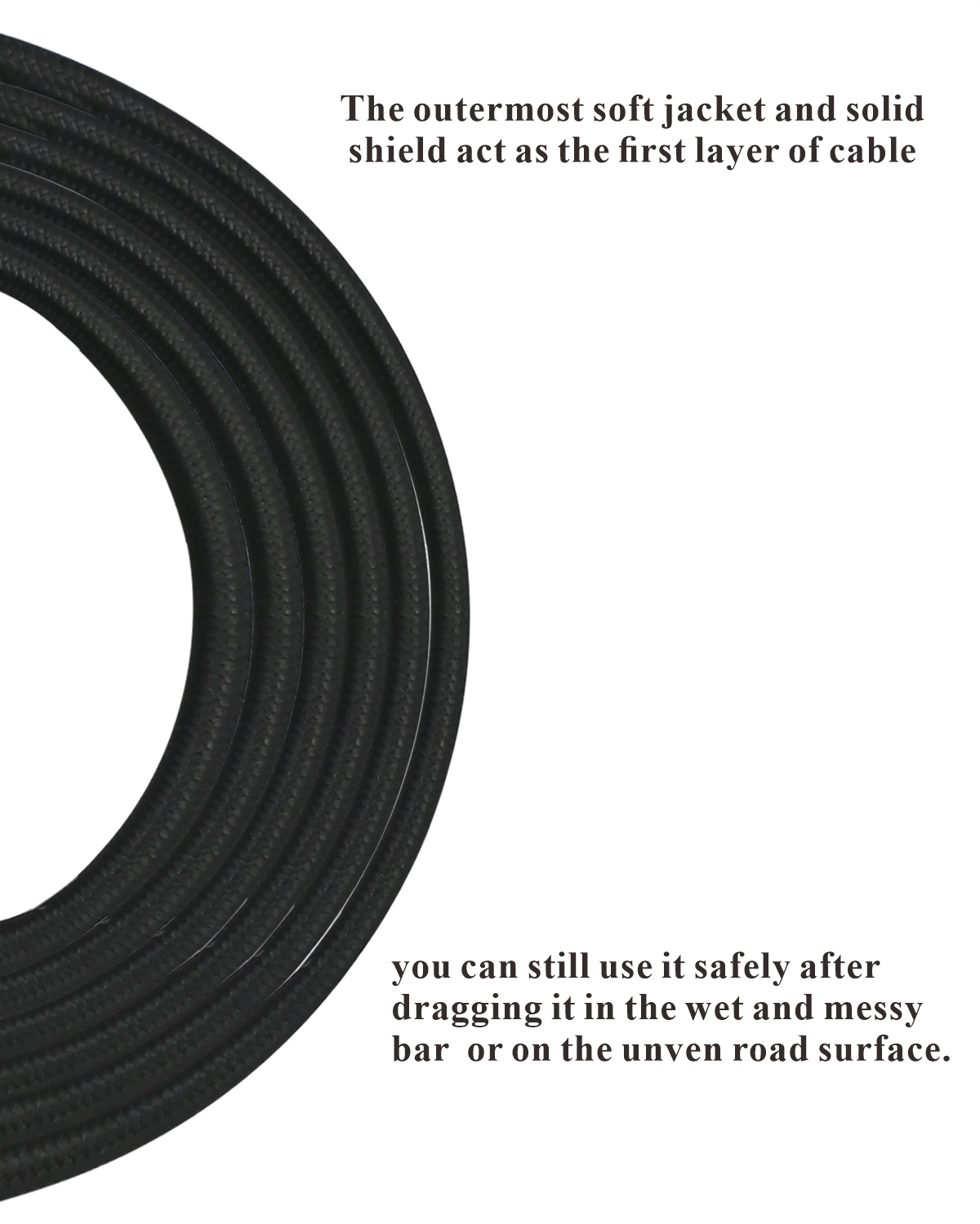 20 feet professional guitar instrument cable with Noble black tweed coat Straight 1/4 Inch TS to Straight 1/5 Inch TS