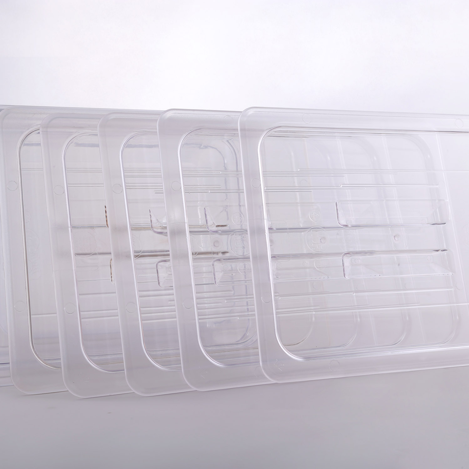Hakka 1/2 Size Polycarbonate Gastronorm Pans Lid&Cover,Clear - Pack of 6