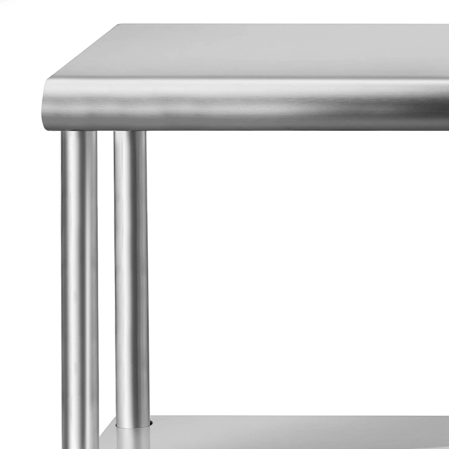 "Hakka 14"" x 60"" Stainless Steel Double Deck Overshelf"