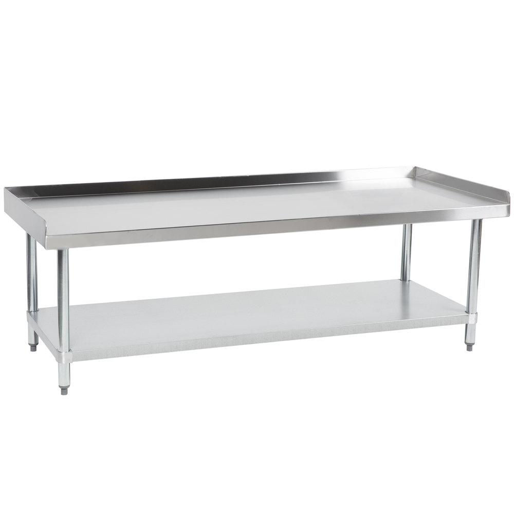 "Hakka 24""x60"" Commercial Stainless Steel Equipment Stand with Undershelf, NSF Certified"