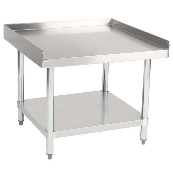 "Hakka 30""x30"" Commercial Stainless Steel Equipment Stand with Undershelf, NSF Certified"