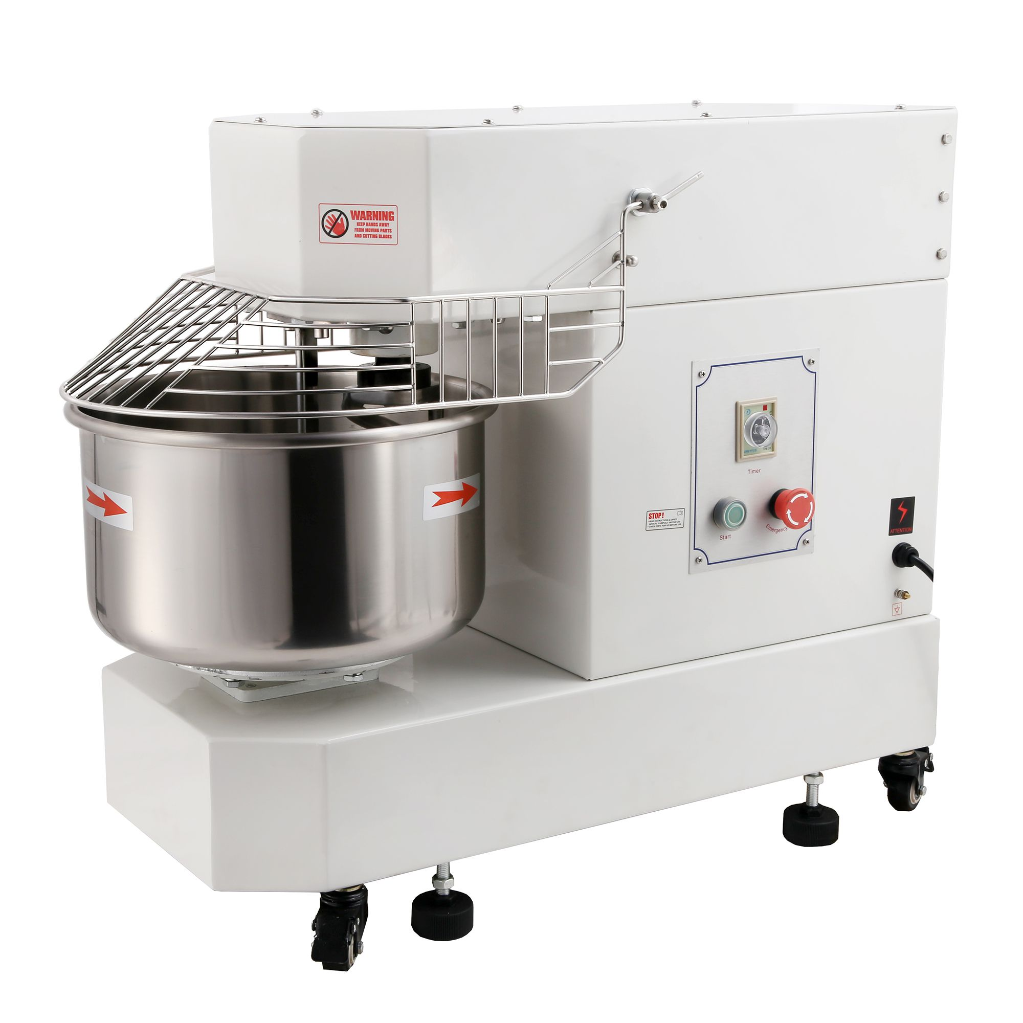 Hakka Commercial Spiral Mixers and Dough Mixer (20 Quart Spiral Mixer DN20)