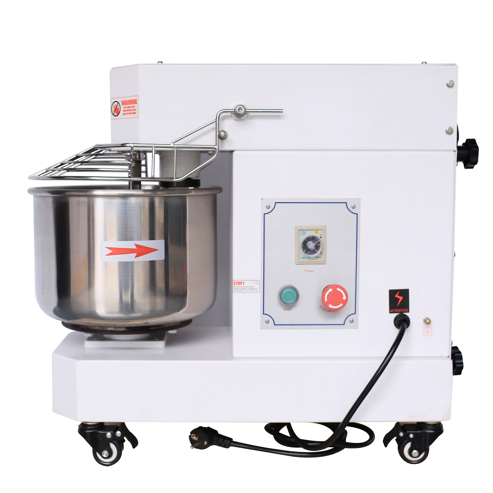 Hakka Commercial Dough Mixers 10 Quart Stainless Steel Spiral Mixers (DN10)