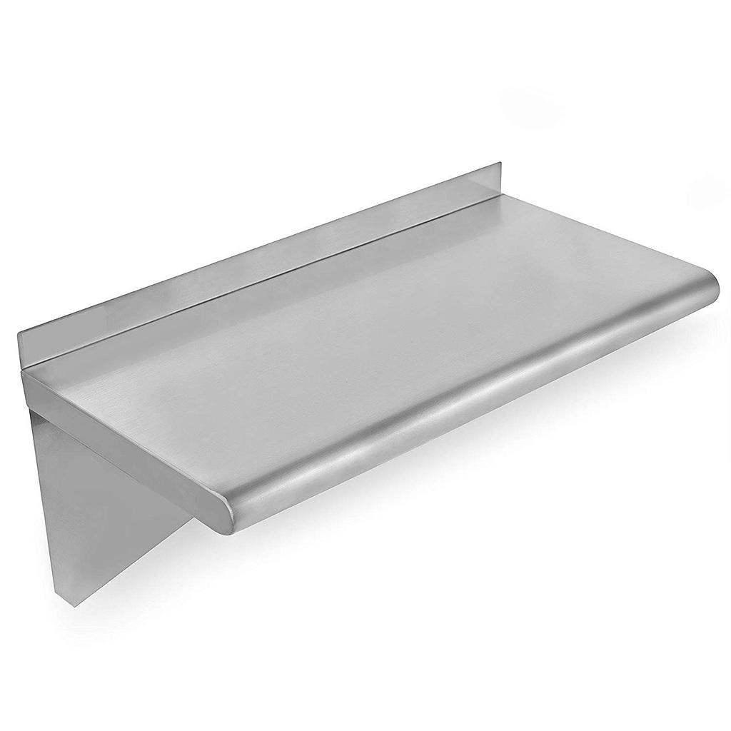 "Hakka Commercial Stainless Steel Wall Mount Shelf-12""x60""Heavy Duty Solid Wall Shelfs"