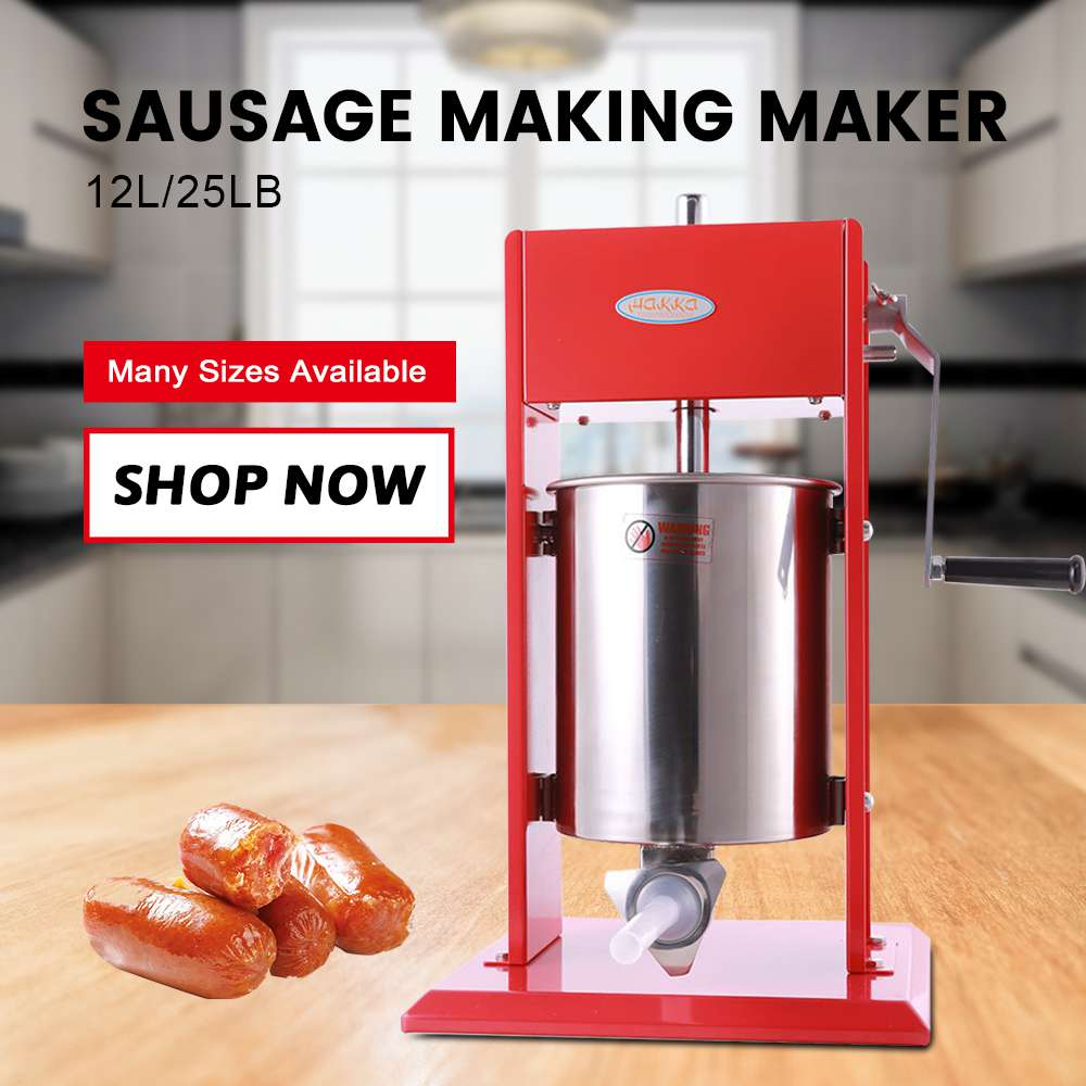 Hakka 25 Pound Sausage Stuffer 2 Speed Stainless Steel Vertical Sausage Filler
