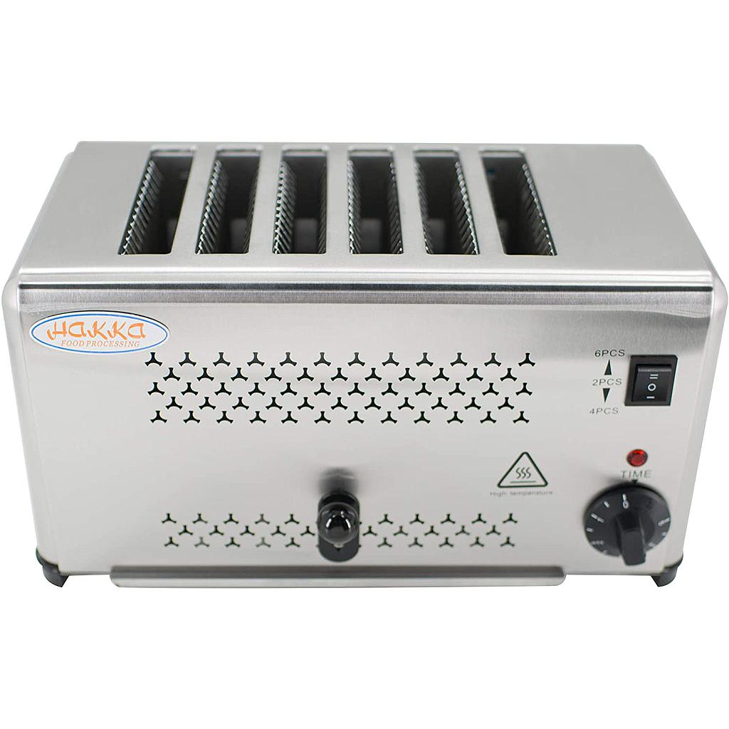 Hakka Heavy-Duty Switchable Bread 6-Slice Commercial Toaster